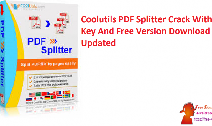 Coolutils PDF Splitter Crack 6.1.0.23 With Key And Free Version Download