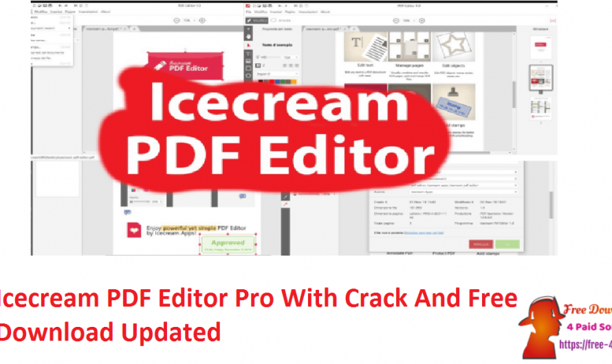 Icecream PDF Editor Pro 2.45 With Crack And Free Download [Updated]