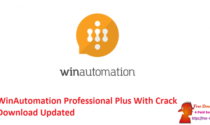 WinAutomation Professional Plus 9.2.3.5807 With Crack Download