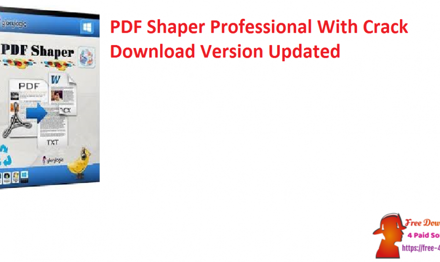 PDF Shaper Professional 10.7 With Crack Download Version [Updated]