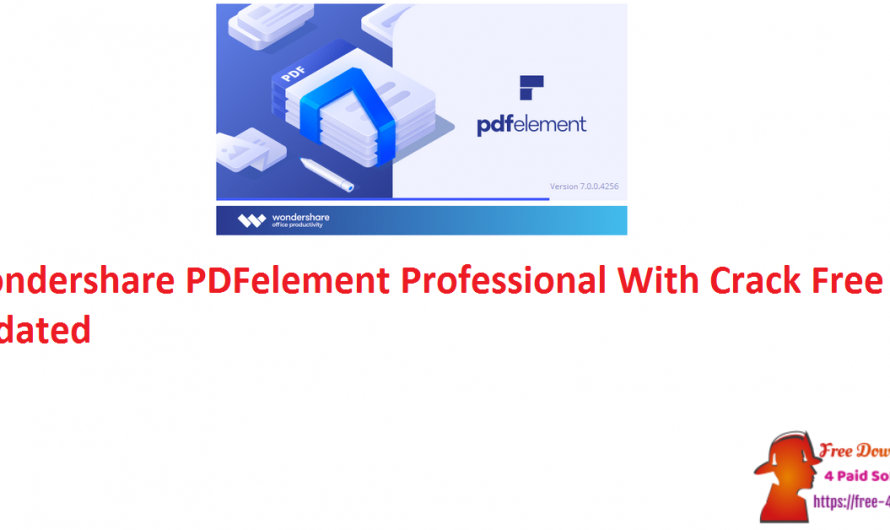 Wondershare PDFelement Professional 8.0.18 Crack Free [Updated]