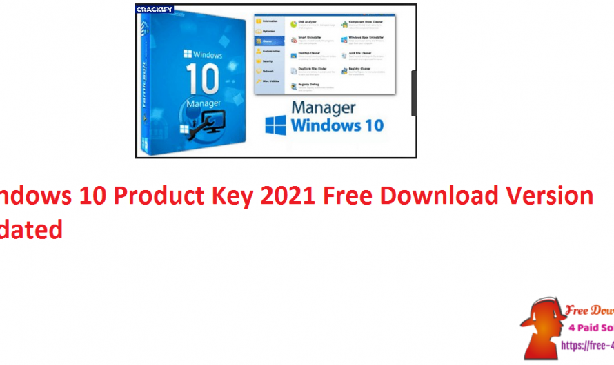 Windows 10 Product Key 2021 Free Download Version [Updated]