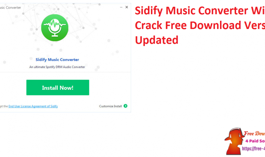 Sidify Music Converter 2.3.2 Crack With Free Download Version [Updated]